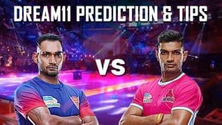 Dream11 Team DEL vs JAI Pro Kabaddi League 2019 - Kabaddi Prediction Tips For Today's PKL Match 27 Dabang Delhi K.C. vs Jaipur Pink Panthers at Patliputra Indoor Stadium, Patna