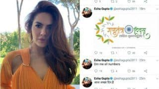 Esha Gupta Hilariously Roasted For Tweeting Republic Day Post on Independence Day