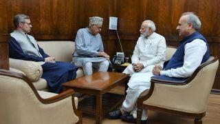 PM मोदी से मिले फारूक अब्दुल्ला, जम्मू-कश्मीर में विधानसभा चुनाव कराने को लेकर की बात