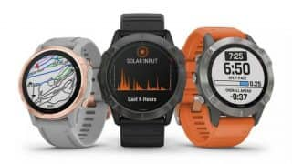Garmin Fenix 6 smartwatches with solar power and big displays launched