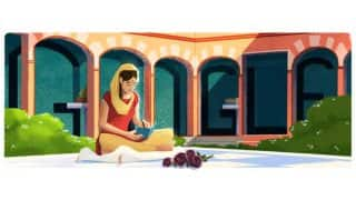 Google Doodle celebrates 100th birthday of Amrita Pritam, depicts her autobiography Kala Gulab