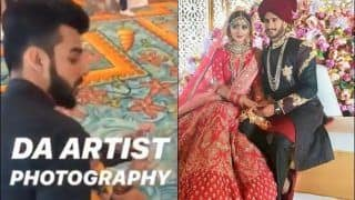 Pakistan Cricketer Hassan Ali Dances During Wedding With Indian Girl Shamia Arzoo in Dubai, Shadab Khan Plays Photographer   WATCH VIDEO