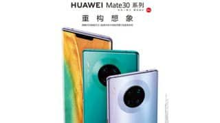 Huawei Mate 30 Pro promotional render showcase a quad-camera setup on the back