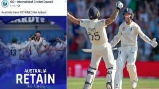 Ashes 2019: ICC Predicts Australia's Win, Later Deletes Post After Ben Stokes Leads England's Unbelievable Comeback at Headingley | SEE POST