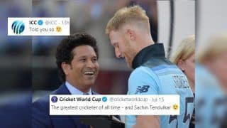 ICC Tries to Cheekily TROLL Sachin Tendulkar With With Old World Cup 2019 Post After Ben Stokes Ashes Heroics, Fans Return Favour | SEE POSTS