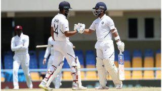 INDvsWI: अजिंक्य रहाणे शतक के करीब, विहारी ने जमाया अर्धशतक, भारत की बढ़त 362 रन