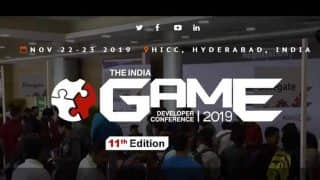 11th India Game Developers Conference scheduled for November 22