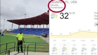 India vs West Indies 1st T20I Weather Report: Today's Rain Forecast For IND vs WI 1st T20I at Central Broward Regional Park Stadium Turf Ground