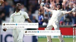 Ashes 2019: Twitter's Nostradamus Jofra Archer Shares Old Tweets Which Hails Ben Stokes And Covered England's Unbelievable Win at Headingley | SEE POSTS