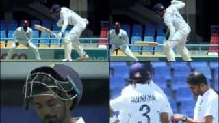 KL Rahul Cops a Nasty Delivery From Kemar Roach During 1st Test at Antigua Between India-West Indies | WATCH VIDEO