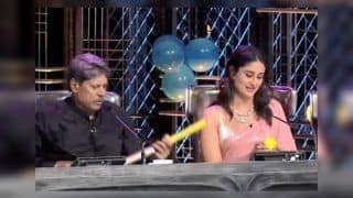 Kapil Dev Gifts Kaneera Kapoor an Autographed Bat For Taimur in Dance India Dance | WATCH VIDEO