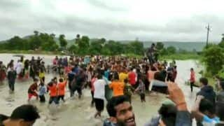 Flood Dance! People in Karnataka Dance on Waterlogged Highway