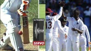 Kemar Roach's Premature Celebration Leaves Him Embarrassed After DRS Saves Ravindra Jadeja During 1st Test at Antigua Between India-West Indies | WATCH VIDEO