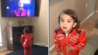 Viral Video: Little Boy Tries to Copy Michael Jackson's 'Thriller' Moves And it is Winning The Internet