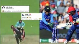Fans TROLL Surrey Cricket For Comparing MS Dhoni Lightening-Quick Glovework to Ben Foakes | SEE POSTS