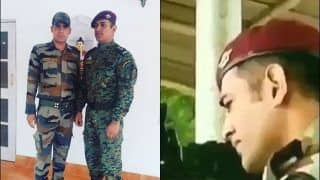 MS Dhoni Sizzles in The Shooting Range in Kashmir; Obliges Indian Army Officers to Selfies   PICS AND VIDEOS