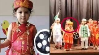 MS Dhoni's Daughter Ziva Dressed in Jhansi Ki Rani Attire Performs on 'Nanha Munna Rahi Hun Desh ka Sipahi Hun Song' on 73rd Independence Day is Unmissable | WATCH VIDEO