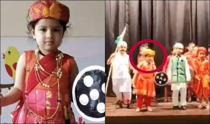 MS Dhoni Daughter Ziva Dressed in Jhansi Ki Rani 73rd