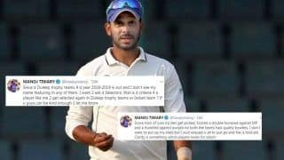 'Frustrated' Manoj Tiwary Slams Board, Asks For Clarity of Why he Was Not Selected For Duleep Trophy | SEE POST