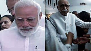 PM Modi Walks Advani Out of Crematorium After Last Rites of Sushma Swaraj
