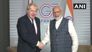 ब्रिटेन के PM जॉनसन से मिले प्रधानमंत्री मोदी, एशेज सीरीज के तीसरे टेस्ट में इंग्लैंड की जीत पर दी बधाई