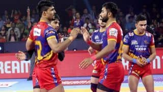 Dream11 Team UP vs HAR Pro Kabaddi League 2019 - Kabaddi Prediction Tips For Today's PKL Match 40 U.P. Yoddha vs Haryana Steelers at EKA Arena by TransStadia in Ahmedabad