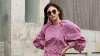 Mouni Roy's Summery Look in Pink Dress And White Sneakers is How You Make a Style Statement
