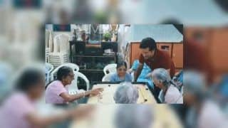 National Sports Day 2019: Sachin Tendulkar Spends Time at St Anthony's Old Age Home, Little Master's Gesture on Dhyan Chand's 114th Birth Anniversary Will Melt Your Heart | WATCH VIDEO