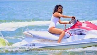 Nia Sharma Rides Jet Ski in Hot White Monokini For Jamai 2.0 And we Are Stunned