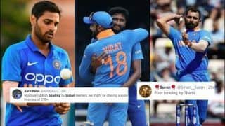 Ind vs WI: Khaleel Ahmed, Bhuvneshwar Kumar, Mohammed Shami TROLLED After Evin Lewis, Chris Gayle Onslaught in 3rd ODI | SEE POSTS