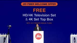 Reliance JioFiber Welcome Offer: Here is what we know about free HD/4K TV and 4K set-top box offer