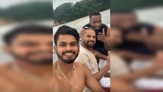 Ind vs WI: Shikhar Dhawan -Rohit Sharma Enjoy Dip in Pool With Keiron Pollard And Nicolas Pooran Cannot be Missed | WATCH VIDEO