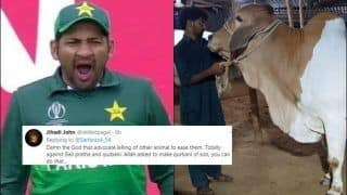 Sarfaraz Ahmed Draws Massive Flak on Twitter For Sharing Qurbani Pictures Ahead of Eid 2019, Fans Request PETA to Take Action Against Pakistan Captain | SEE POSTS