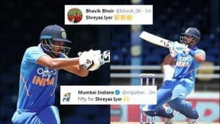 Shreyas Iyer Wins Applause as he Slams Timely 50 During 2nd ODI Between India-West Indies, Fans Feels he is Should be No 4 | SEE POSTS