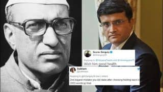 Sourav Ganguly Makes a Goof-up, Gets TROLLED For Wishing Late Haryana Chief Minister Bansi Lal Legha 'Good Health' | SEE POSTS