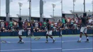 US Open: Sumit Nagal's Reaction After Winning First Set Against Roger Federer is EPIC | WATCH VIDEO