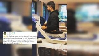 Suresh Raina Hits Gym After Knee Surgery, Shares Motivational Post | WATCH