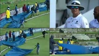 India vs West Indies: Umpires Taken by Surprise as Uninstructed Ground-Staff Enter Without Being Called For During Antigua Test | WATCH VIDEO