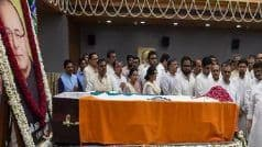 Arun Jaitley Cremated With Full State Honours; Leaders Across Party Lines Bid Tearful Adieu to BJP Stalwart