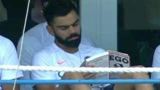 Virat Kohli's Latest Dressing Room Fixation Sends Twitter Into Frenzy, Fans Troll Skipper's Choice of Reading 'Detox Your Ego' Book During 1st Test Between India vs West Indies