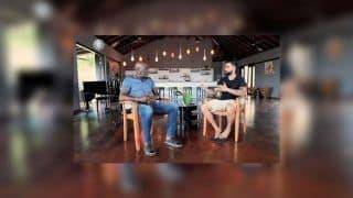 Virat Kohli Turns Anchor to Interview Sir Vivian Richards Ahead of 1st Test Between India-West Indies in Antigua | WATCH VIDEO
