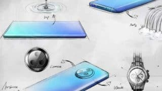 Vivo NEX 3 sketch details the waterfall curved screen and circular rear camera