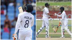 West Indies vs India 1st Test: रहाणे, जडेजा के अर्धशतक की बदौलत भारत ने बनाए 297 रन
