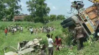 Uttar Pradesh: 16 Dead, Over 5 Injured as Speeding Truck Overturns on 2 Vehicles