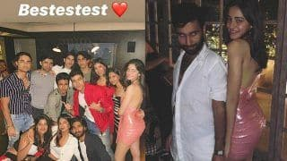 Ananya Panday Parties With Aryan Khan And Other Friends in a Sexy Pink Dress - Viral Pics