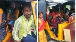 Auto Rickshaw in Telangana Carries 24 Passengers, Cops Ask Them to Pose For Pic - Watch Viral Video