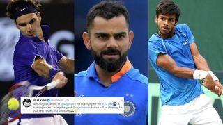 Indian Men's Cricket Team Captain Virat Kohli Wishes Sumit Nagal on Twitter Ahead of US Open Clash Against Roger Federer   SEE POST