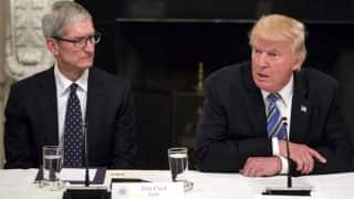 Tim Cook tells President Donald Trump that US China trade war will benefit Samsung
