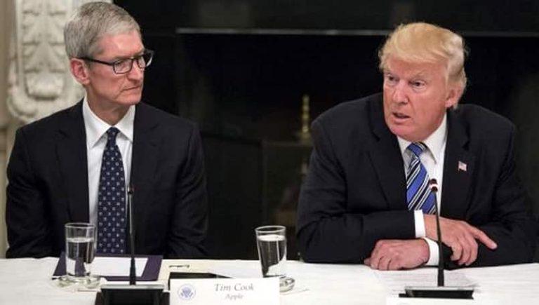 Tim Cook tells President Donald Trump that US China trade war will benefit Samsung