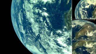 चंद्रयान 2 ने भेजी धरती की फोटो,  दूर से ऐसी नजर आती है पृथ्वी